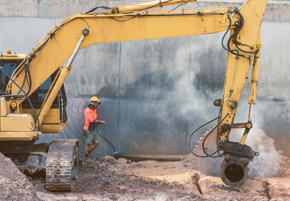 Rock saw attachment is used in demolition, construction, quarry, and mining.